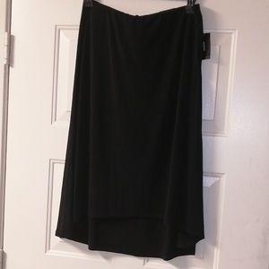 Alfani skirt deep black size Xl blue solid